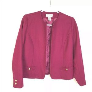 Talbots 8P Red Wool Blazer Career Gold Buttons
